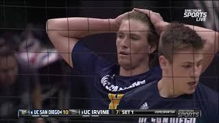 2019 Men's Volleyball Big West Tournament - #3 UC Irvine Vs #6 UC San Diego