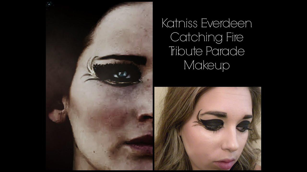 katniss everdeen catching fire tribute parade makeup youtube