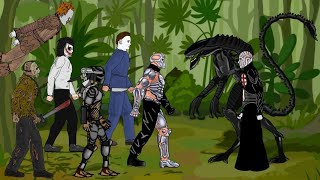Alien vs Uber Jason, Pinhead, Jason Voorhees, Michael, Jeff the killer, Predator, Pennywise | Dc2