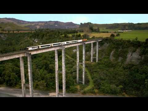 KiwiRail Scenic Journeys TV commercial featuring Beca designed heritage bridges