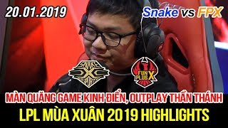 [LPL 2019] Snake vs FPX Game 2 Highlights | Khán giả choáng váng chứng kiến màn quăng game kinh điển