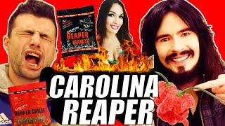 Irish People Try American CAROLINA REAPER Challenge!! - ( Peanuts, Chilli, Chocolate, Scratchings )