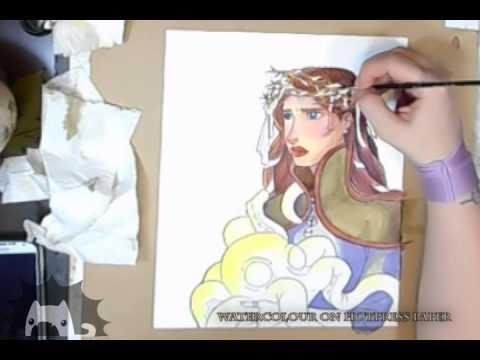 Watercolour painting Speedpaint