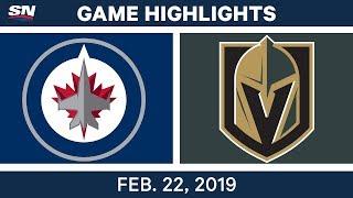 NHL Highlights   Jets vs. Golden Knights - Feb 22, 2019
