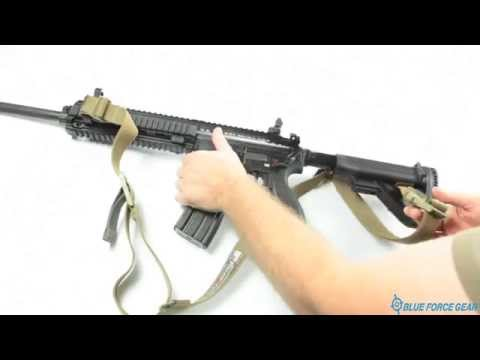 NSN Vickers Sling Attached to Buttstock of a HK M27 Option 3