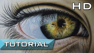 Speed Drawing Drawing A Realistic Eye In Coloured Pencil Music Videos
