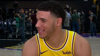 Lonzo Ball Full Interview   2018 NBA Lakers Media Day Press Conference
