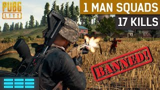 PUBG Lite 17 Kill 1 Man Squad | I Got Banned Again!