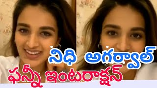 Ismart Shankar fame Nidhhi Agerwal funny live interaction..