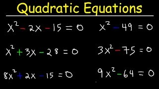 How To Solve Quadratic Equations By Factoring - Quick & Simple!