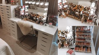 LAURA'S MAKEUP COLLECTION AND STORAGE