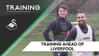 Swans TV - Training ahead of Liverpool (Away)