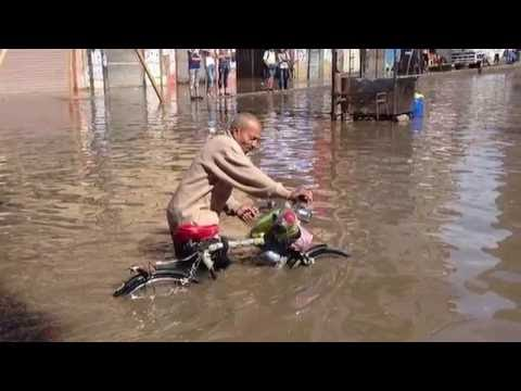 Floods in Alexandria, Egypt in October 2015