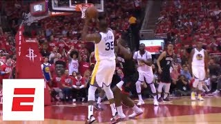 Warriors vs. Rockets Game 1 highlight: Kevin Durant 37 points, Klay Thompson 28 points | ESPN