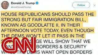 Trump's tweet contradicts himself on immigration vote