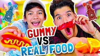 GUMMY vs. REAL FOOD! ft My Little Brother