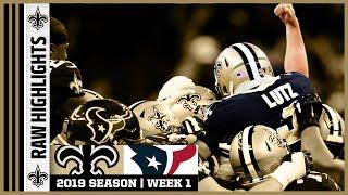 Saints vs Texans Raw On-Field Highlights   2019 NFL Week 1   New Orleans Saints