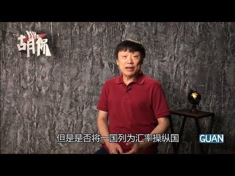 胡锡进:中国是汇率操纵国?真是一个可笑而且贬值的指控
