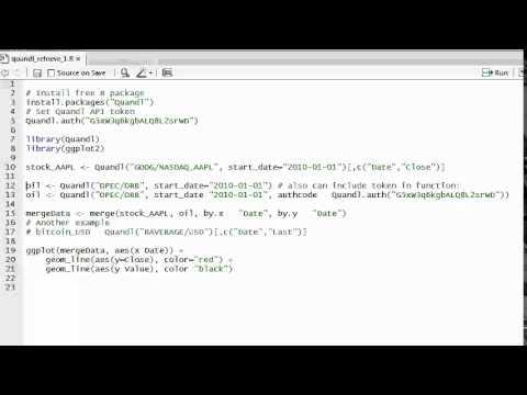 R programming: Intro: Retrieve quandl.com data into R