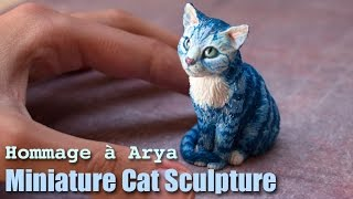 Polymer Clay Cat Sculpture // Hommage à Arya
