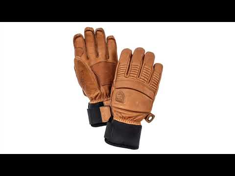 Hestra Ski Gloves Hestra Mens Leather Fall Line Ski Glove in Cork
