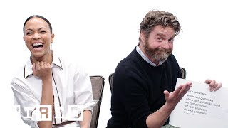 Zach Galifianakis & Zoe Saldana Answer the Web's Most Searched Questions | WIRED