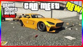 GTA 5 ONLINE CAR MEET +NEW CAR BENEFACTOR SCHLAGEN GT SPORTS | PS4 LIVE