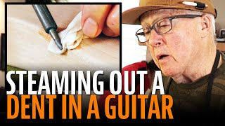 Watch the Trade Secrets Video, Fixing a guitar dent by steaming it out