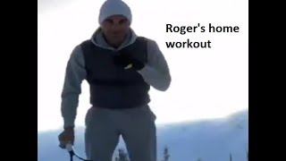 Watch: Roger Federer gives a glimpse of his home workout..
