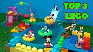 TOP 3 PARQUE DO MICKEY /CASA DA PEPPA E DELEGACIA DE POLÍCIA  #LEGO  OS TOPS DO CANAL