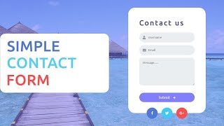 Contact us form Design Using HTML and CSS
