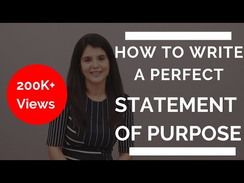 How To Write A Perfect Statement of Purpose (SOP / Admissions Essay)