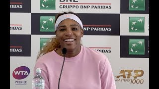 Serena Williams | Press Conference | Internazionali BNL d'Italia First Round