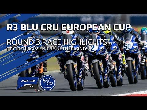 Yamaha R3 bLU cRU European Cup Highlights - Round 3 TT Circuit Assen