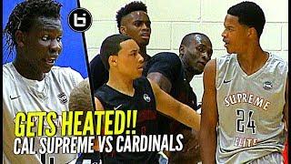GETS HEATED! Shareef O'Neal & Bol Bol vs Cole Anthony at Nike Peach Jam! Cal Supreme vs PSA
