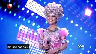 Dân ca của gia tộc thổ Trung Hoa bằmg hai giọng nam nữ của cô gái