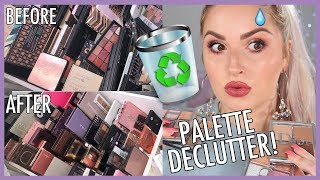 NEUTRAL & WEARABLE Eyeshadow Palettes 🔪 ORGANIZE AND DECLUTTER MY MAKEUP COLLECTION! 😏