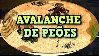 Age of Empires 2 HD Avalanche de Peões AoE2HD Gameplay PT BR