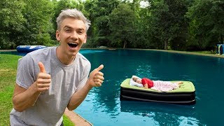 GRACE SHARER WAKES UP IN BACKYARD POND PRANK!!