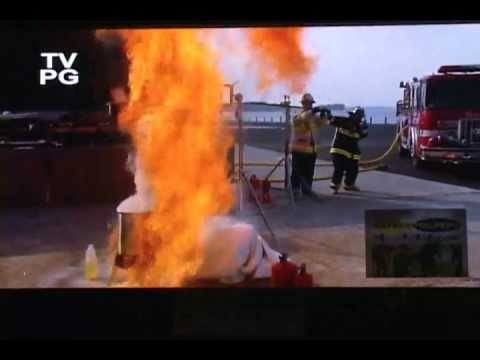 Grease Fire and Water Demonstration - Fire Protection Training