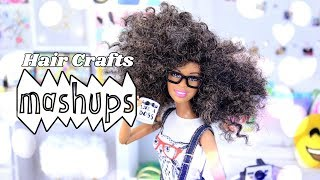 Mash Ups: Doll Hair Crafts - Doll Afro | Yarn Re - Root In Depth | How to Curl Dolls Hair & More