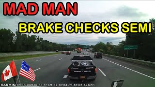 A Day in The Life of an American Truck Driver - Road Rage, Brake Check, Car Crash, Instant Karma USA