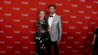 Emily Blunt and John Krasinski on the red carpet for the 2018 Time 100 Gala in New York City