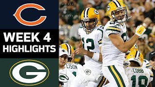 Bears vs. Packers | NFL Week 4 Game Highlights