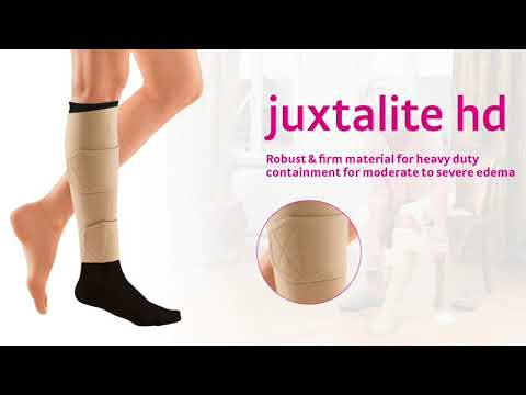 The juxtalite hd is easy to use, provides guaranteed graduated compression, and promotes patient independence & compliance.