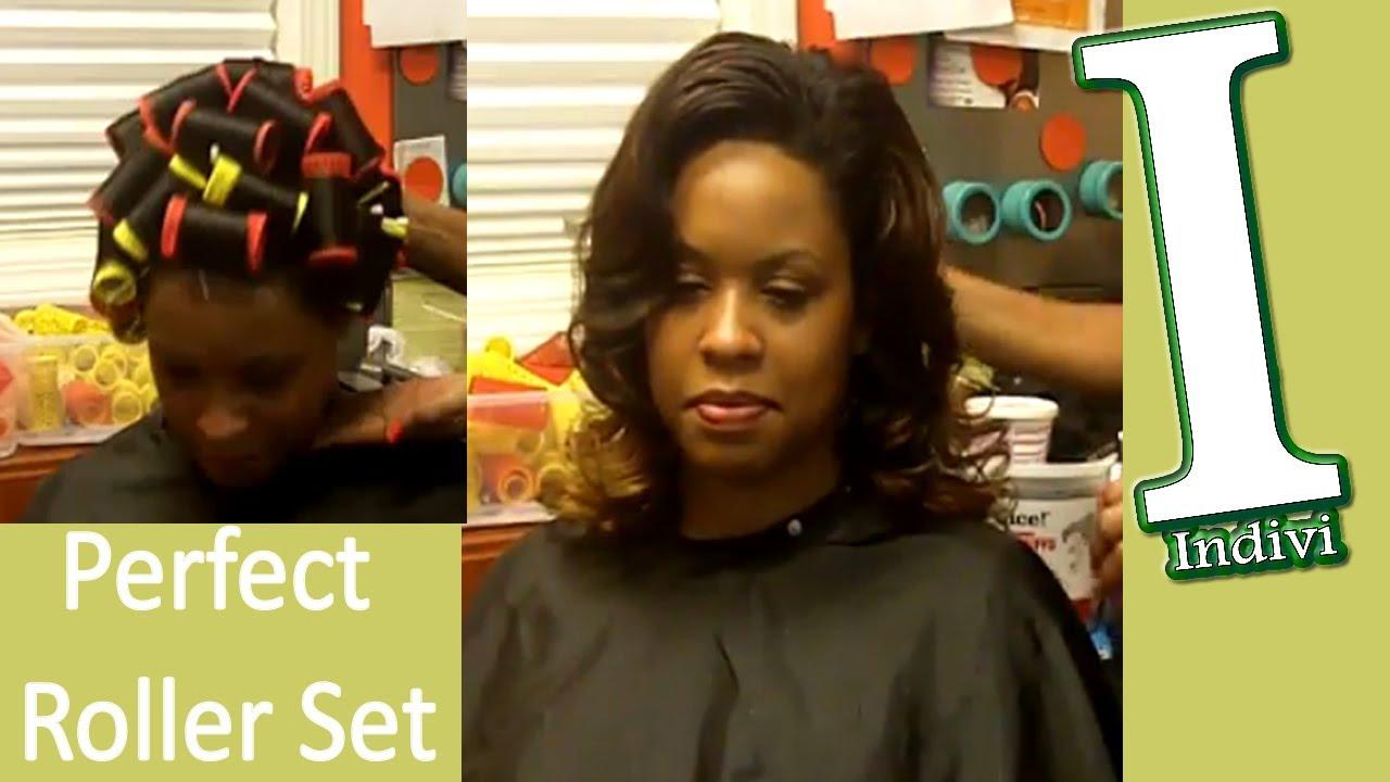 Black Hair Roller Set Styles: Roller Set Hair Tutorial