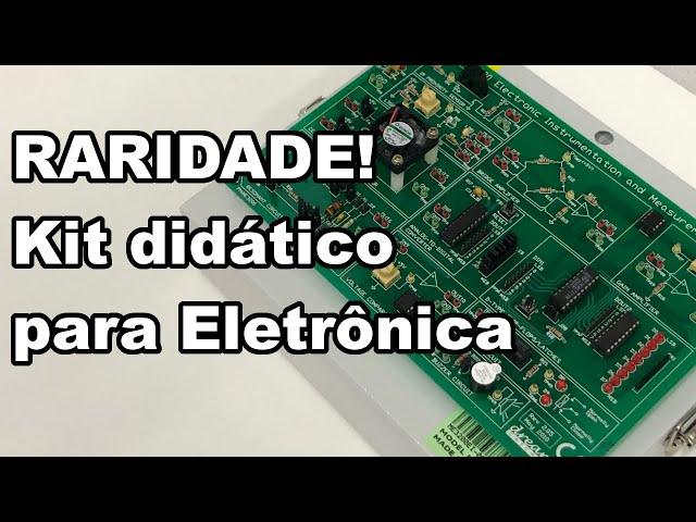 RARIDADE! Vejam este kit didático antigo para laboratório de Eletrônica!