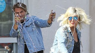 Kris Jenner Gets Silly In A Silly String War With Jonathan Cheban
