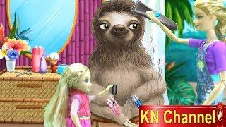 Đồ chơi trẻ em BÚP BÊ KN Channel TẬP LÀM NGƯỜI CHĂM SÓC CON LƯỜI TRONG SỞ THÚ vui nhộn