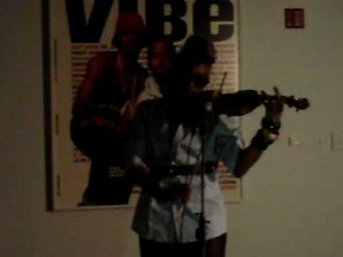 Joya Bravo on Violin at PULSE Magazine Release Party